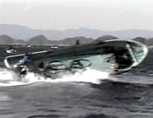 fishing boat whale attack japan