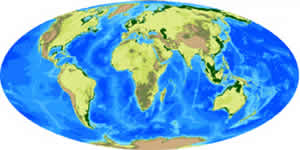 ocean basins sea levels 80 million years future