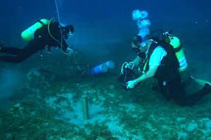 geoarchaeological research underwater