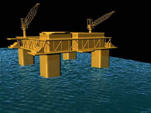 oil platform rogue wave model computer