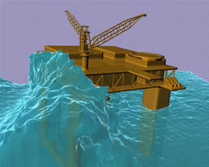 rogue wave model oil platform