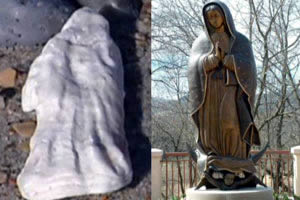 virgin mary seashell