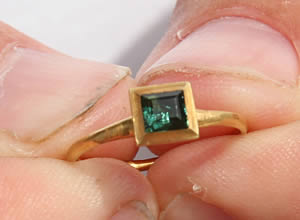 emerald ring gold Santa margarita lrg