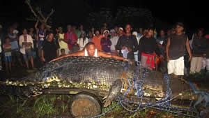 monster 21 foot crocodile philipines