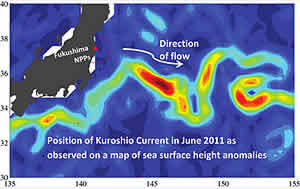 radioactivity Kuroshio Current Japan