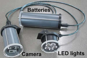 underwater camera battery lights