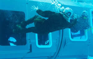 underwater egress training